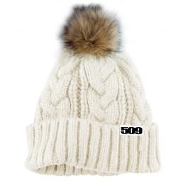 Шапка женская с помпоном 509 Fur Pom