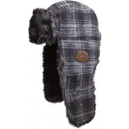 Шапка Trapper Fur Hat - Black Plaid