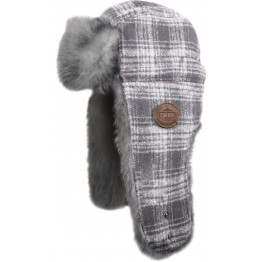 Шапка Trapper Fur Hat - White Plaid