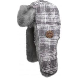 Шапка Trapper Fur Hat - White Plaid