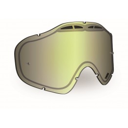 Линза SINISTER X5 с креплениями для отрывных плёнок - Chrome Mirror/Yellow