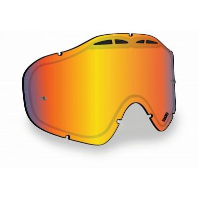 Линза SINISTER X5 с креплениями для отрывных плёнок - Fire Mirror/Clear